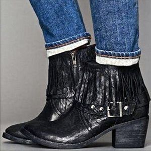 Free People x Faryl Robin Fringe Leather Booties